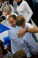 King of Spain. TELEFONICA RACING TEAM .Volvo Ocean Race leg 1 start in Alicante, Spain 11/10/2008 VOLVO OCEAN RACE 2008-2009