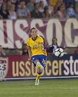 Sweden midfielder Kosovare Asllani (10) passes the ball. The US Women's national team beat Sweden, 3-0, at Rentschler Field on July 17, 2010.