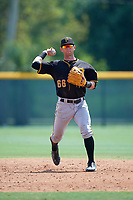 Pittsburgh Pirates Tyler Filliben (66) during a minor league Spring Training game against the New York Yankees on April 1, 2016 at Pirate City in Bradenton, Florida.  (Mike Janes/Four Seam Images)