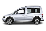 Car Driver side profile view of a 2013 Volkswagen Caddy Cross 5 Door Mini MPV 2WD Side View