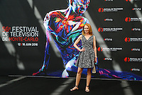 FESTIVAL DE TELEVISION DE MONTE CARLO - PHOTOCALL 'THE CRYSTAL NYMPH' AVEC MARG HELGENBERGER