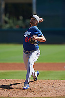 Los Angeles Dodgers pitcher Alexander Hermeling (84) during an instructional league game against the Milwaukee Brewers on October 13, 2015 at Cameblack Ranch in Glendale, Arizona.  (Mike Janes/Four Seam Images)