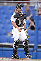 July 11, 2009:  Catcher C.J. Ebarb of the Dunedin Blue Jays during a game at Dunedin Stadium in Dunedin, FL.  Dunedin is the Florida State League High-A affiliate of the Toronto Blue Jays.  Photo By Mike Janes/Four Seam Images