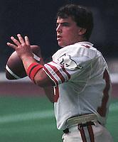 Greg Vavra Calgary Stampeders quarterback 1985 Copyright photograph Scott Grant