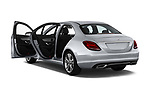 Car images close up view of a 2017 Mercedes Benz C Class C350e 4 Door Sedan doors