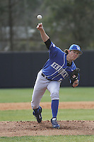 University of Kentucky Wildcats pitcher Dustin Beggs (14) on the mound during a game against the Ball State Cardinals at Brooks Field on the campus of University of North Carolina-Wilmington on February 13, 2015 in Wilmington, North Carolina. Kentucky defeated Ball State 11-7. (Robert Gurganus/Four Seam Images)