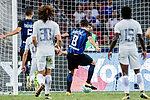 FC Internazionale Forward Stevan Jovetic (C) scores his goal during the International Champions Cup 2017 match between FC Internazionale and Chelsea FC on July 29, 2017 in Singapore. Photo by Marcio Rodrigo Machado / Power Sport Images