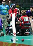 Bruno Garneau, Rio 2016 - Boccia.<br /> Bruno Garneau competes in the mixed boccia event against Korea // Bruno Garneau participe à l'épreuve de boccia mixte contre la Corée. 09/09/2016.