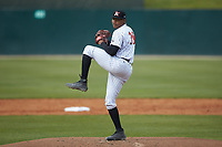 Kannapolis Intimidators relief pitcher Luis Ledo (39) in action against the Lakewood BlueClaws at Kannapolis Intimidators Stadium on April 8, 2018 in Kannapolis, North Carolina.  The Intimidators defeated the BlueClaws 4-3 in game two of a double-header.  (Brian Westerholt/Four Seam Images)