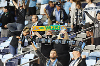 SAINT PAUL, MN - MAY 15: Minnesota United FC fans celebrate the victory during a game between FC Dallas and Minnesota United FC at Allianz Field on May 15, 2021 in Saint Paul, Minnesota.