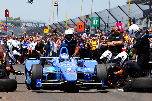 Verizon IndyCar Series<br /> Indianapolis 500 Carb Day<br /> Indianapolis Motor Speedway, Indianapolis, IN USA<br /> Friday 26 May 2017<br /> Scott Dixon, Chip Ganassi Racing Teams Honda Pit Stop Competition<br /> World Copyright: Russell LaBounty<br /> LAT Images