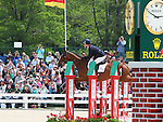 01 May 2011. Kings Temptress and Mary King from Great Britain win the 2011 Rolex Three Day Event when they finish the jumping course with a clean round.