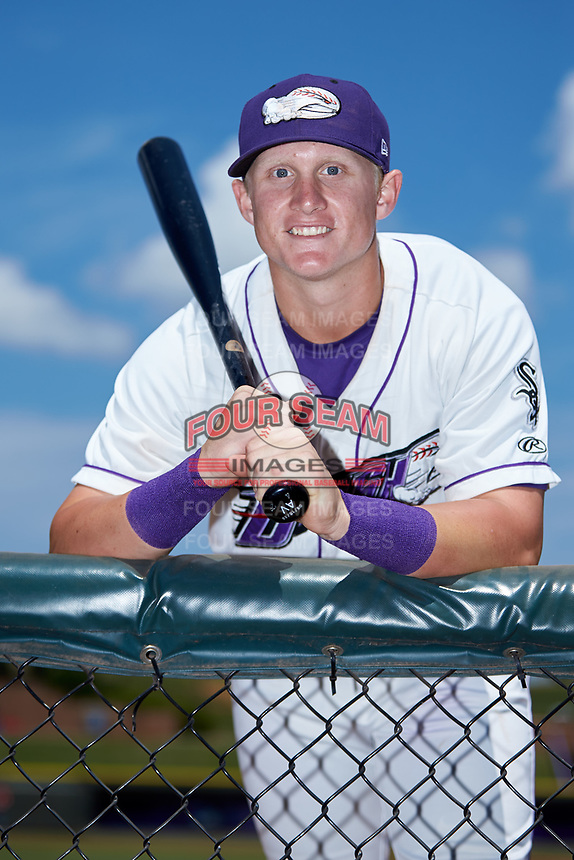 Winston-Salem Dash first baseman Andrew Vaughn (12) poses for a photo prior to the game against the Carolina Mudcats at BB&T Ballpark on August 4, 2019 in Winston-Salem, North Carolina. The Dash defeated the Mudcats 7-5. (Brian Westerholt/Four Seam Images)