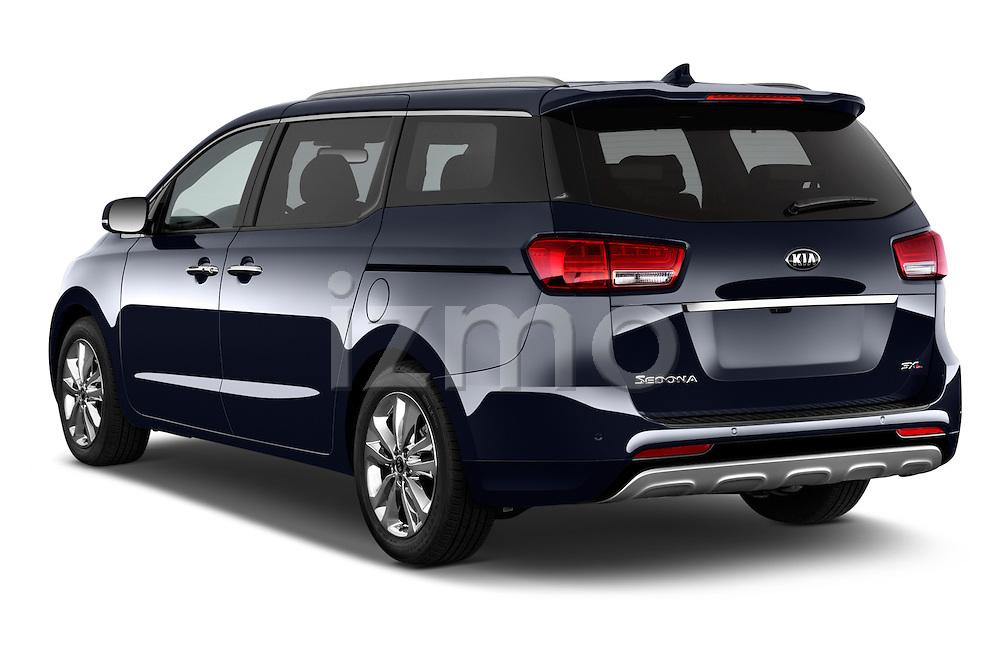 Car pictures of rear three quarter view of a 2015 KIA Sedona SX Limited 4 Door Minivan Angular Rear