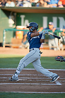 Pablo Abreu (12) of the Helena Brewers bats against the Ogden Raptors at Lindquist Field on July 14, 2018 in Ogden, Utah. Ogden defeated Helena 8-6. (Stephen Smith/Four Seam Images)