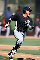 Chicago White Sox Carlos Perez (58) during an Instructional League game against the San Francisco Giants on October 10, 2016 at the Camelback Ranch Complex in Glendale, Arizona.  (Mike Janes/Four Seam Images)