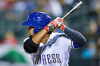 Round Rock Express right fielder Tomas Telis (25) during pacific coast league baseball game, Friday August 14, 2014 in Round Rock, Tex. Reno defeated Round Rock 6-1 to go two up in best of three series. (Mo Khursheed/TFV Media via AP Images)