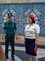 Metro  Station in Taschkent, Usbekistan, Asien<br /> Subway station in Tashkent, Uzbekistan, Asia