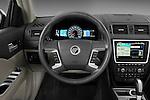 Steering wheel view of a 2010 Mercury Milan Hybrid