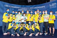 Best Team<br /> UKRAINE<br /> ALEKSIIVAMaryna/ALEKSIIVAVladyslava<br /> FIEDINAMarta/HRYSHKOVeronika<br /> NOSOVAAnna/REZNIKKateryna<br /> SAVCHUKAnastasiya/SHYNKARENKOAlina<br /> SYDORENKOKseniya/YAKHNOYelyzaveta<br /> Artistic Swimming<br /> Budapest  - Hungary  15/5/2021<br /> Duna Arena<br /> XXXV LEN European Aquatic Championships<br /> Photo Pasquale Mesiano / Deepbluemedia / Insidefoto