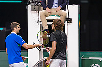 Rotterdam, The Netherlands, 4 march  2021, ABNAMRO World Tennis Tournament, Ahoy, First round singles: Stefanos Tsitsipas (GRE) vs. Hubert Hukacz (POL).<br /> Photo: www.tennisimages.com/
