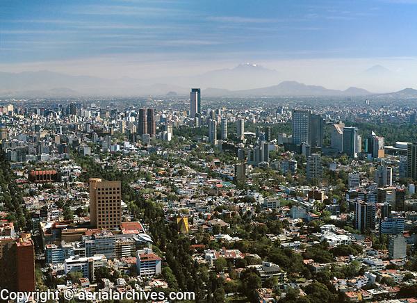 aerial photograph of Polanco district, Mexico City