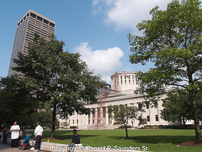 Unlike many U.S. state capital buildings,the Ohio Statehouse owes little to the architecture of the United States Capitol. It was designed and built before the U.S. Capitol was enlarged to its present form, with the large white dome that would become ubiquitous on government buildings in America.<br /> <br /> The name 'OHIO' originated from the Iroquois which comes from the word 'great river'<br /> <br /> Motto: Ad Astra per Aspera (To the stars through difficulties) <br />                ***<br /> State nickname:The Sunflower State<br />                ***<br /> Motto: With God, All Things are Possible <br /> <br /> « less