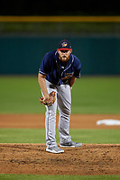 Toledo Mud Hens relief pitcher Kyle Ryan (58) during a game against the Indianapolis Indians on May 2, 2017 at Victory Field in Indianapolis, Indiana.  Indianapolis defeated Toledo 9-2.  (Mike Janes/Four Seam Images)