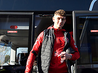Fleetwood Town players arriving before the Sky Bet League 1 match between AFC Wimbledon and Fleetwood Town at the Cherry Red Records Stadium, Kingston, England on 8 February 2020. Photo by Alan  Stanford / PRiME Media Images.