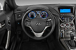 Steering wheel view of a 2013 Hyundai Genesis Coupe 2.0T