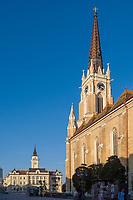 Katholische Marienkirche Crkva imena Marijinog in Novi Sad = Neusatz, Vojvodina, Serbien, Europa<br /> catholic church of Mary - Crkva imena Marijinog at Freedom Square-Trg Slobode, Novi Sad, Vojvodina, Serbia, Europe