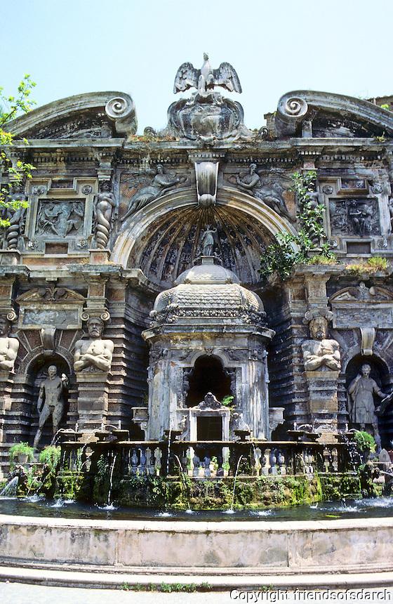 Tivoli: Villa D'Este--Fontana Dell Organo. Organ Fountain by Pirrin Del Gagliardo, 1568.