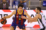 League ACB-ENDESA 2020/2021.Game 15.<br /> FC Barcelona vs Club Joventut Badalona: 88-74.<br /> Leandro Bolmaro vs Albert Bassas.