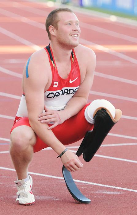 Alister McQueen, Guadalajara 2011 - Para Athletics // Para-athlétisme.<br /> Alister McQueen races in the 100m final // Alister McQueen dans les manches du 100m final. 11/14/2011.