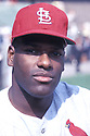 St. Louis Cardinals Bob Gibson (50) portrait from his 1967 season with the St. Louis Cardinals. Bob Gibson played for 17 years all with the Cardinals and was inducted to the Baseball Hall of Fame in 1981.
