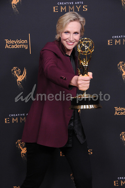 10 September  2017 - Los Angeles, California - Jane Lynch. 2017 Creative Arts Emmys - Press Room held at Microsoft Theatre L.A. Live in Los Angeles. Photo Credit: Birdie Thompson/AdMedia
