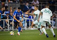 SAN JOSE, CA - SEPTEMBER 4: Cristian Espinoza during a game between Colorado Rapids and San Jose Earthquakes at PayPal Park on September 4, 2021 in San Jose, California.