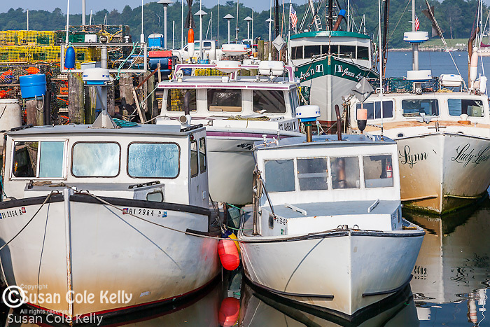 Fishing boats in Stonington harbor, Stonington, CT, USA