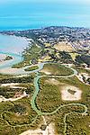 Australien, Queensland, Great Barrier Reef, reisen, Flussdelta, Flug, Flussmaeander, Luftaufnahme, 10/2014<br />engl.: Australia, Queensland, Great Barrier Reef, river delta, airial view, airial shot, travel, 10/2014