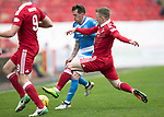 Aberdeen v St Johnstone…29.04.17     SPFL    Pittodrie<br />Danny Swanson is fouled by Jonny Hayes<br />Picture by Graeme Hart.<br />Copyright Perthshire Picture Agency<br />Tel: 01738 623350  Mobile: 07990 594431