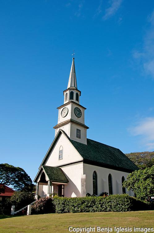 A view of the old Kaahumanu Church, Wailuku, Maui, Hawaii.