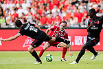 Bayern Munich Midfielder Franck Ribery (R) plays against AC Milan Midfielder Riccardo Montolivo (L) during the 2017 International Champions Cup China  match between FC Bayern and AC Milan at Universiade Sports Centre Stadium on July 22, 2017 in Shenzhen, China. Photo by Marcio Rodrigo Machado / Power Sport Images