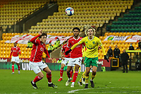 2nd January 2021; Carrow Road, Norwich, Norfolk, England, English Football League Championship Football, Norwich versus Barnsley; Todd Cantwell of Norwich City struggles to get past the Barnsley defence