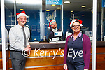 Killarney Credit Union staff Joe Lyne, John O'Neill and Miriam McCarthy are on the counter to help with any Christmas requests