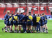 5th February 2021; Ashton Gate Stadium, Bristol, England; Premiership Rugby Union, Bristol Bears versus Sale Sharks; Bristol Bears huddle before kick off