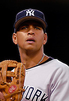 16 June 2006: Alex Rodriguez, third baseman for the New York Yankees, in action against the Washington Nationals at RFK Stadium, in Washington, DC. The Yankees defeated the Nationals 7-5 in the first meeting of the two franchises...Mandatory Photo Credit: Ed Wolfstein Photo...