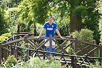 Rangers striker Jon Daly relaxing after a hard training session at the team's base in Marienfeld, Germany