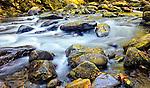 Silky river flowing through Smoky Mountain National Park, TN