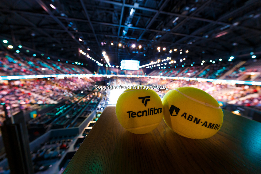 Rotterdam, The Netherlands, 14 Februari 2020, ABNAMRO World Tennis Tournament, Ahoy, Technifibre.<br /> Photo: www.tennisimages.com