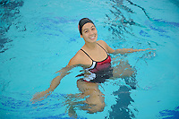 Danielle Rossoni of the 2010 Stanford Synchronized Swimming team.
